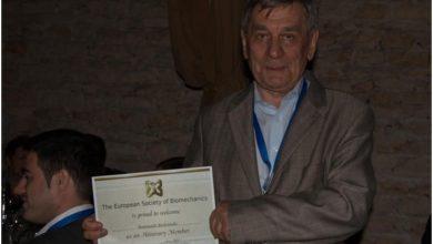 Photo of Prof. Romuald Będziński w gronie Europejskiego Towarzystwa Mechaniki