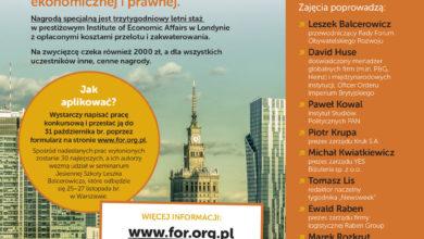 Photo of Jesienna Szkoła Leszka Balcerowicza – eksperci z zakresu ekonomii, prawa i mediów