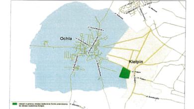 Photo of Kiełpin zyska kosztem Ochli? Chodzi o teren między sołectwami