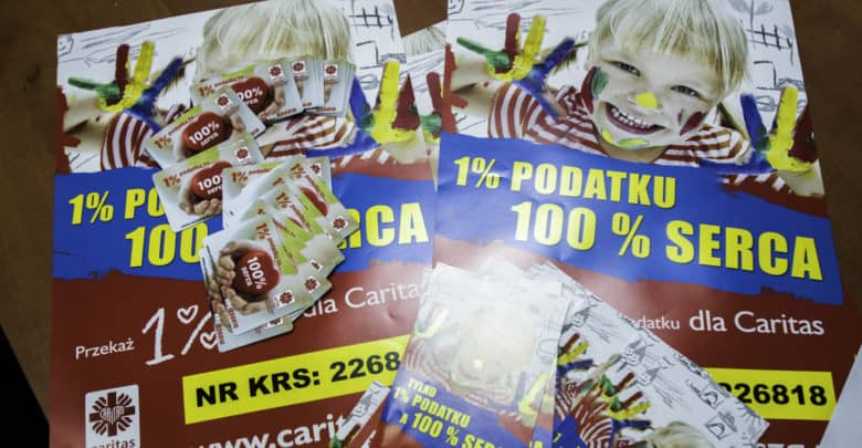 """Photo of """"1% podatku – 100% serca"""". Caritas dziękuje za wpływy z podatku i prosi o wsparcie"""