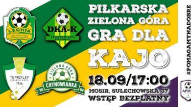 Photo of Zielonogórscy piłkarze zagrają dla Kajo! Turniej w środę