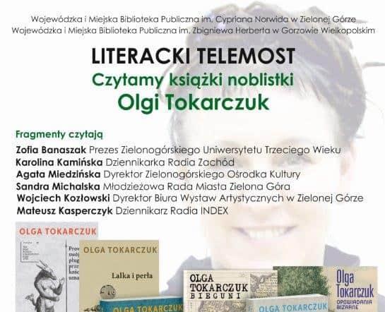 """Photo of Celebrujemy Nobla dla Olgi Tokarczuk! """"Norwid"""" stworzy literacki telemost"""