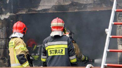 Photo of Pożar w rejonie Trasy Aglomeracyjnej. Płonął warsztat przy Dąbrowskiego