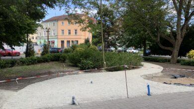 Photo of Tu stanie pomnik ks. Michalskiego. Bez cokołu, a więc blisko ludzi