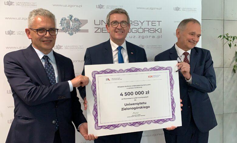 Photo of 4,5 miliona złotych dla uczelni. W co zainwestuje UZ?