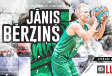 Photo of Janis Berzins zawodnikiem Stelmetu Enei BC